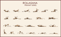 Lanna Roller Ecological Foam Rolling Exercise Instruction Poster