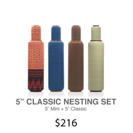 "Lanna Roller Natural Foam Rollers - 5"" Classic Nesting Set | 2-Piece Set 3""+ 5""Lanna Roller Natural Foam Rollers - 5"" Classic Nesting Set | 2-Piece Set 3""+ 5"""